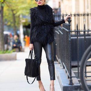 Ark & Co. Black Faux Fur Vest